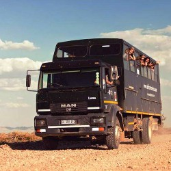 Overland truck in Namibia